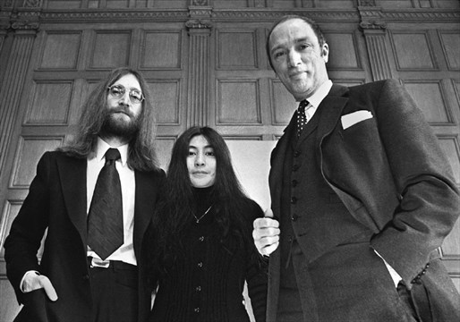John Lennon and Yoko Ono with Prime Minister Pierre Trudeau,