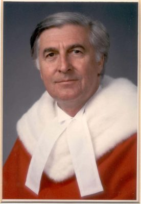 Gerald Le Dain. Image Courtesy of the Supreme Court of Canada.