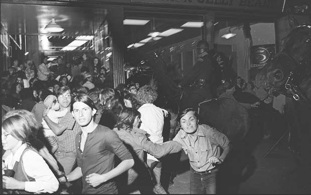 The Gastown Riot, 1971. Image Courtesy of the Vancouver Sun.